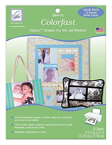 Universal image with printable fabric sheets for quilting