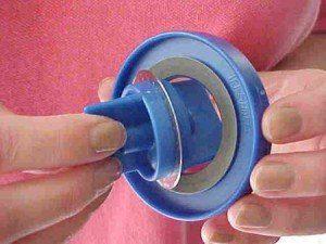 Trisharp rotary blade sharpener