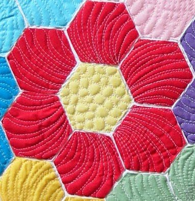markers on quilt