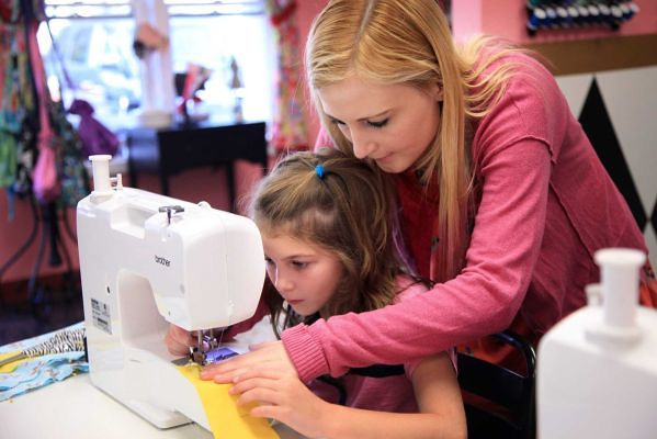 sewing machine for a child - teaching them to sew