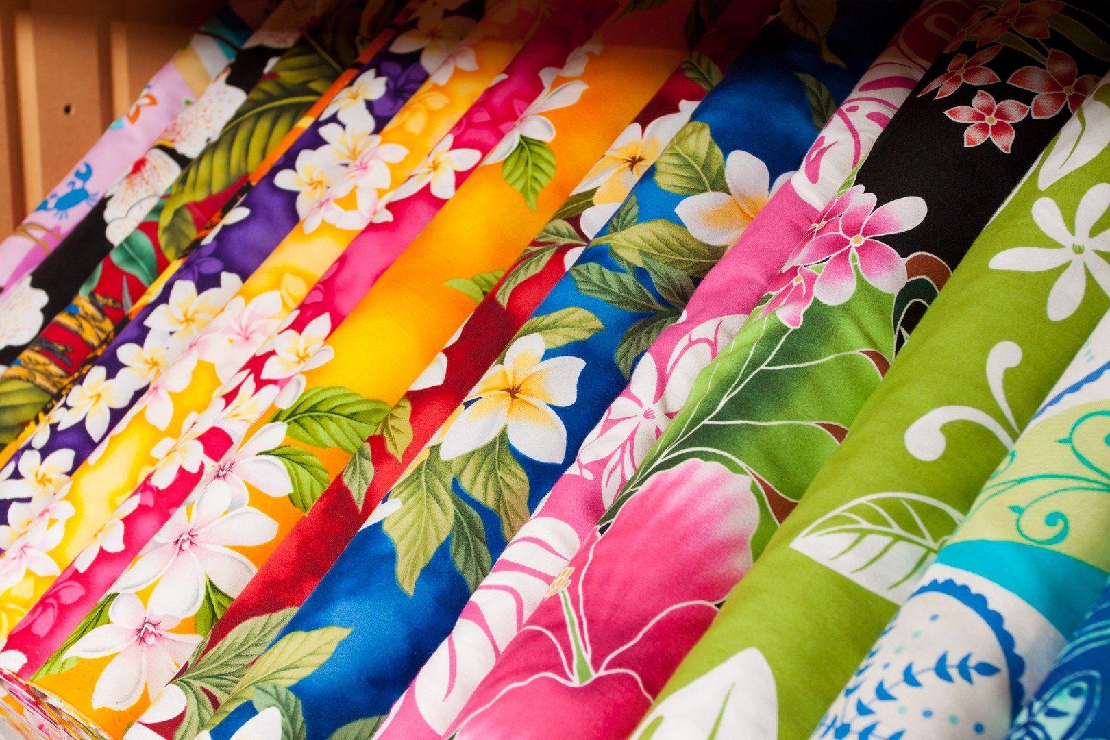 hawaiian quilt fabric