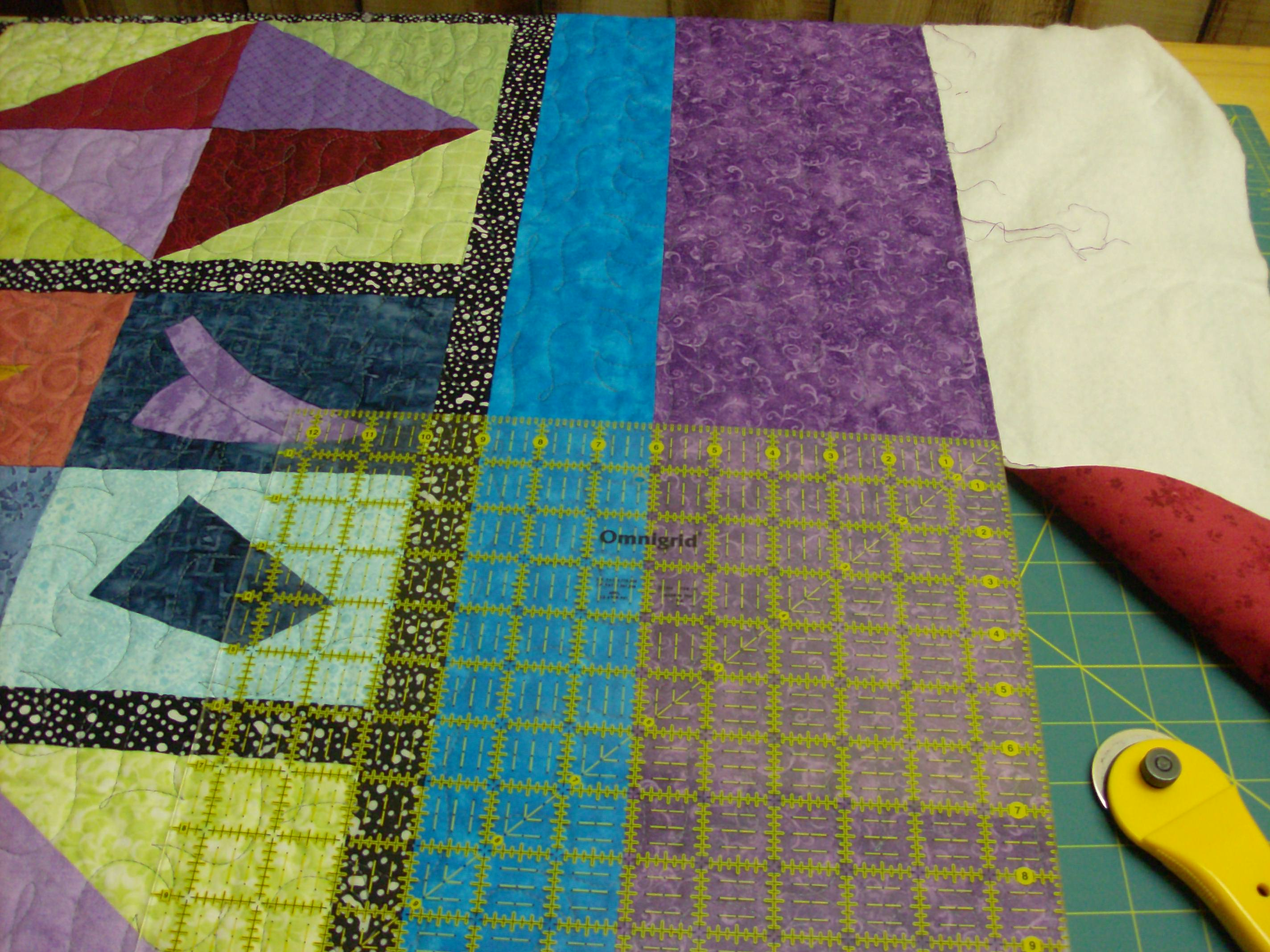 squaring a quilt