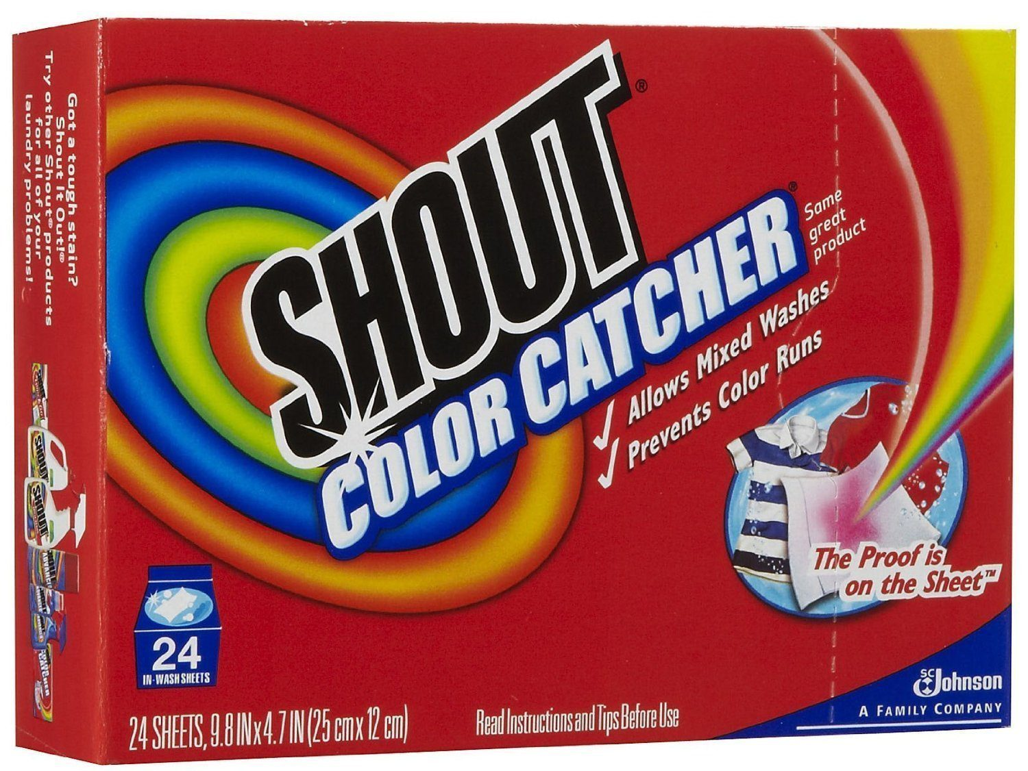 Shout Color Catcher dye-trapping