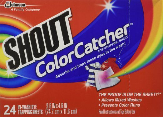 Shout color catcher dye trapping sheets - Protect clothes colors washing ...