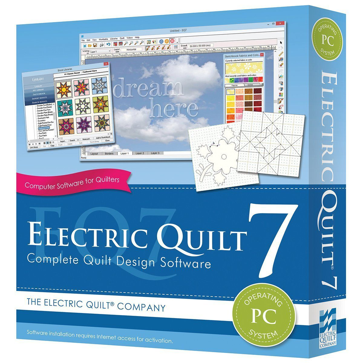 Electric Quilt 7 quilting software