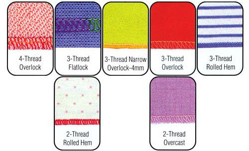 serger stitches