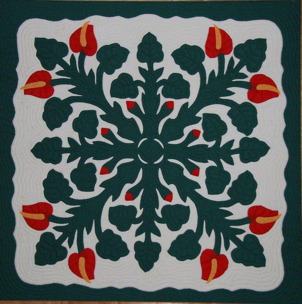 Hawaiian Applique Quilt