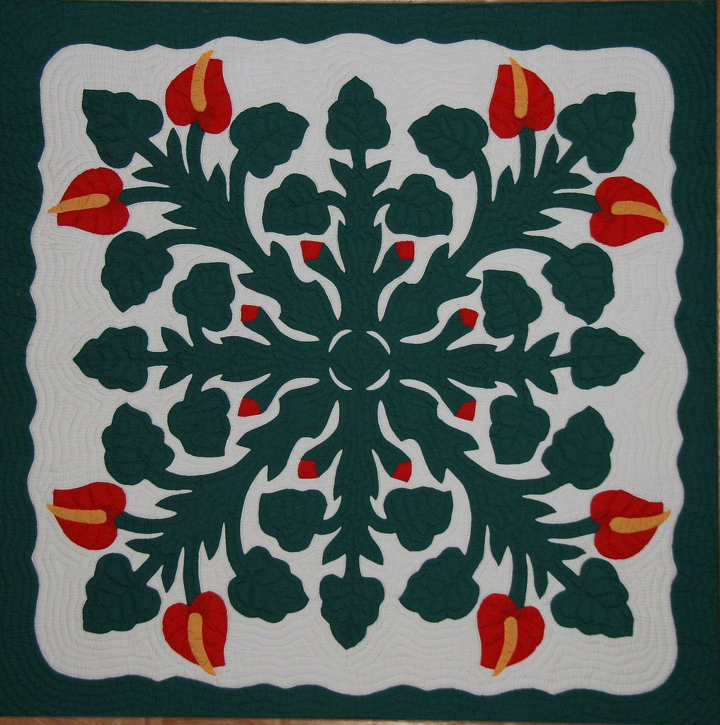 by top handmade hawaiian a blocks carr carole quilt