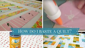 How do I baste a quilt-