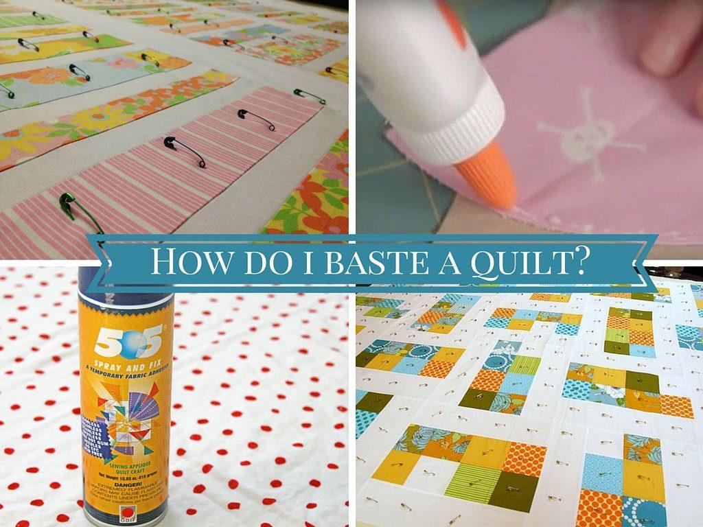 basting a quilt