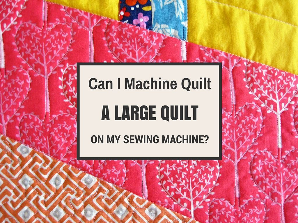 machine quilting a large quilt