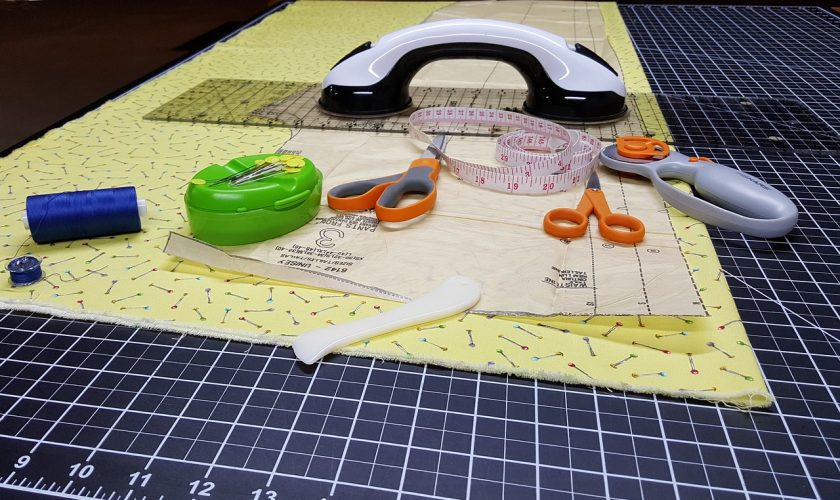 cutting fabric for a quilt