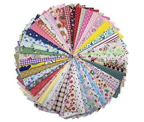 levylisa 100 Pieces 6'' x 6''100% Printed Cotton Quilting Fabric Charm Patchwork Precut Fabric Quilt Squares